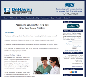 DeHaven and Company, Inc., Accounting Website
