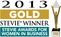 2013 Stevie Winner for Women in Business Award