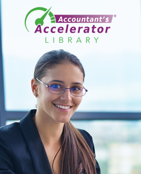 Accountants Accelerator logo, website screen shot, members photo, and training screen shot collage