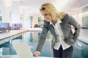 Business Woman at Laptop