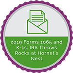 2019 Forms 1065 and K-1s: IRS Throws Rocks at Hornets' Nest
